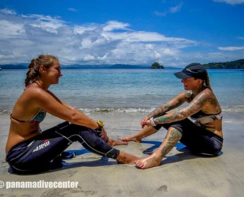 Divers in Coiba